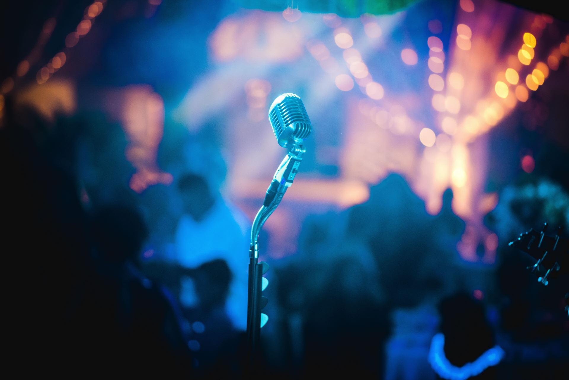 Partyband Bühnenbild